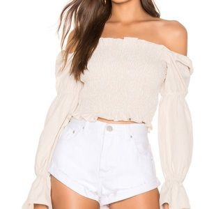 REVOLVE Superdown Smocked top